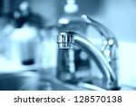 tap water. faucet. water saving ... | Shutterstock . vector #128570138