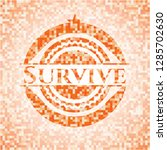 survive orange tile background... | Shutterstock .eps vector #1285702630