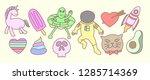 set of 90's illustration ... | Shutterstock .eps vector #1285714369