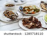 famous filipino food on the... | Shutterstock . vector #1285718110