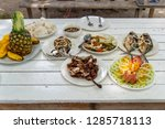 famous filipino food on the... | Shutterstock . vector #1285718113