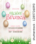 easter brunch invitation card... | Shutterstock .eps vector #1285726093