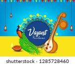 indian festival vasant panchami ...   Shutterstock .eps vector #1285728460