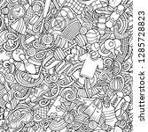 sports hand drawn doodles... | Shutterstock .eps vector #1285728823