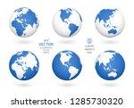 earth illustration. each... | Shutterstock .eps vector #1285730320