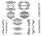 decorative monograms and... | Shutterstock .eps vector #1285730779