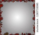 comic style doodle frame... | Shutterstock .eps vector #1285733080