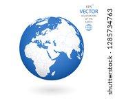 earth illustration. each... | Shutterstock .eps vector #1285734763