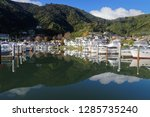 picton marina at high tide and... | Shutterstock . vector #1285735240