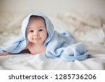cute little baby boy  relaxing... | Shutterstock . vector #1285736206