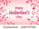 valentine s day card with... | Shutterstock . vector #1285747969