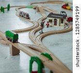 wooden railway for children | Shutterstock . vector #1285749199