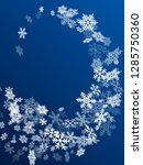snow flakes falling macro... | Shutterstock .eps vector #1285750360