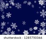 winter snowflakes border magic... | Shutterstock .eps vector #1285750366