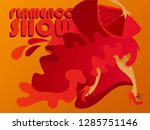 poster for flamenco show  can... | Shutterstock .eps vector #1285751146