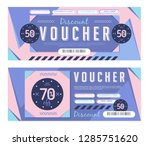 gift voucher. discount coupon... | Shutterstock .eps vector #1285751620