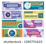 gift voucher. discount coupon... | Shutterstock .eps vector #1285751623