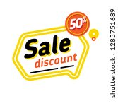 sale tags 50  off special offer.... | Shutterstock .eps vector #1285751689