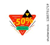 50  off discount tag | Shutterstock .eps vector #1285751719