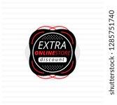 design of black banner offering ... | Shutterstock .eps vector #1285751740