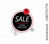 black circle banner offering... | Shutterstock .eps vector #1285751770