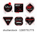 special offer sale label and... | Shutterstock .eps vector #1285751773