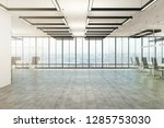 bright office interior with... | Shutterstock . vector #1285753030