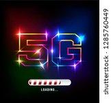 5g loading high speed...   Shutterstock .eps vector #1285760449