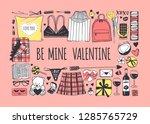 hand drawn fashion illustration ... | Shutterstock .eps vector #1285765729