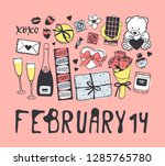 hand drawn fashion illustration ... | Shutterstock .eps vector #1285765780