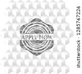 apply now retro style grey...   Shutterstock .eps vector #1285767226