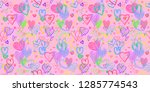 hand drawn background with... | Shutterstock .eps vector #1285774543