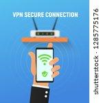 vpn security system. secure...   Shutterstock .eps vector #1285775176