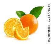 orange low poly. fresh ... | Shutterstock . vector #1285778269