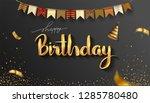 happy birthday typography... | Shutterstock .eps vector #1285780480