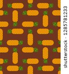 pineapple pattern seamless.... | Shutterstock .eps vector #1285781233
