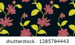 floral seamless pattern can be...   Shutterstock .eps vector #1285784443