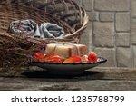 couple bars of handmade soap on ...   Shutterstock . vector #1285788799
