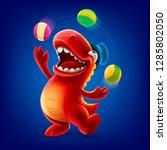dinosaur cute illustration   Shutterstock .eps vector #1285802050