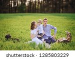 family on a picnic in the... | Shutterstock . vector #1285803229