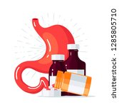 stomach treatment concept.... | Shutterstock .eps vector #1285805710
