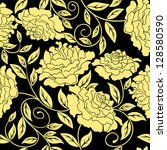 floral seamless in abstract... | Shutterstock .eps vector #128580590
