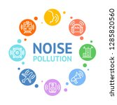 noise pollution concept card... | Shutterstock .eps vector #1285820560
