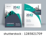 corporate book cover design... | Shutterstock .eps vector #1285821709