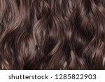 single piece clip in wavy dark...   Shutterstock . vector #1285822903