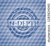 in depth blue hexagon emblem. | Shutterstock .eps vector #1285824040