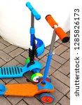 children's scooters of... | Shutterstock . vector #1285826173
