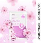 facial sheet mask sachet...   Shutterstock .eps vector #1285831720