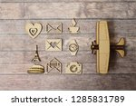 wood figurines. travel theme | Shutterstock . vector #1285831789