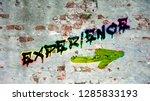 wall graffiti experience   Shutterstock . vector #1285833193